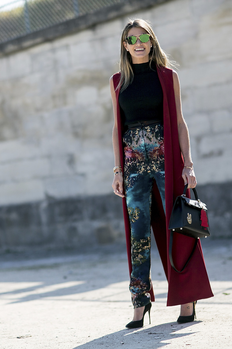 Helena Bordon at Paris Fashion Week in October. Photo: Imaxtree