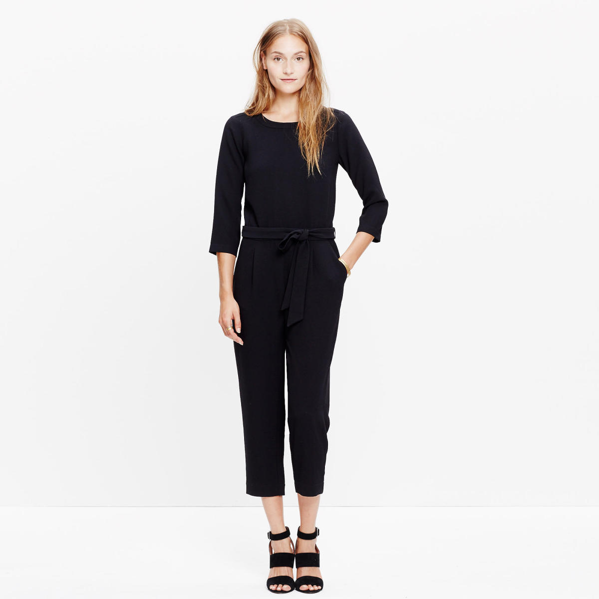 Madewell Sloan jumpsuit $118 (from $138) with code EARLYBIRD, available at Madewell.