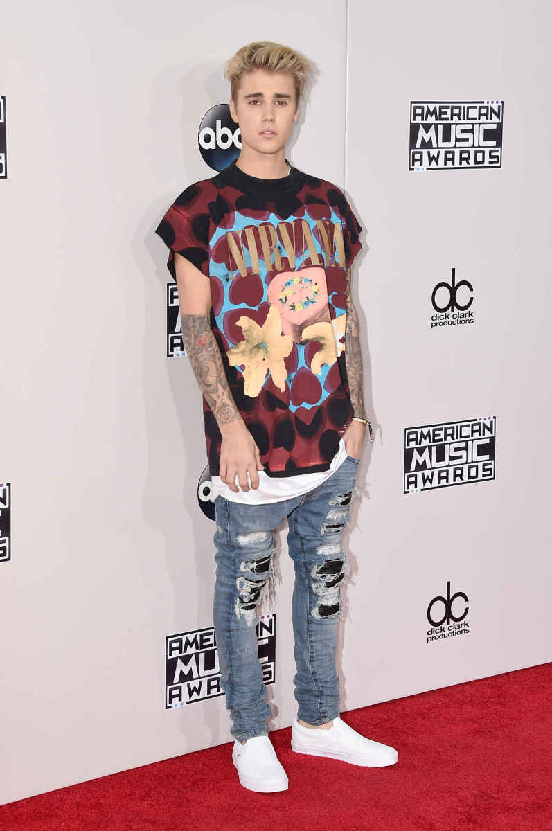 Justin Bieber at the 2015 American Music Awards. Photo: Jason Merritt/Getty Images