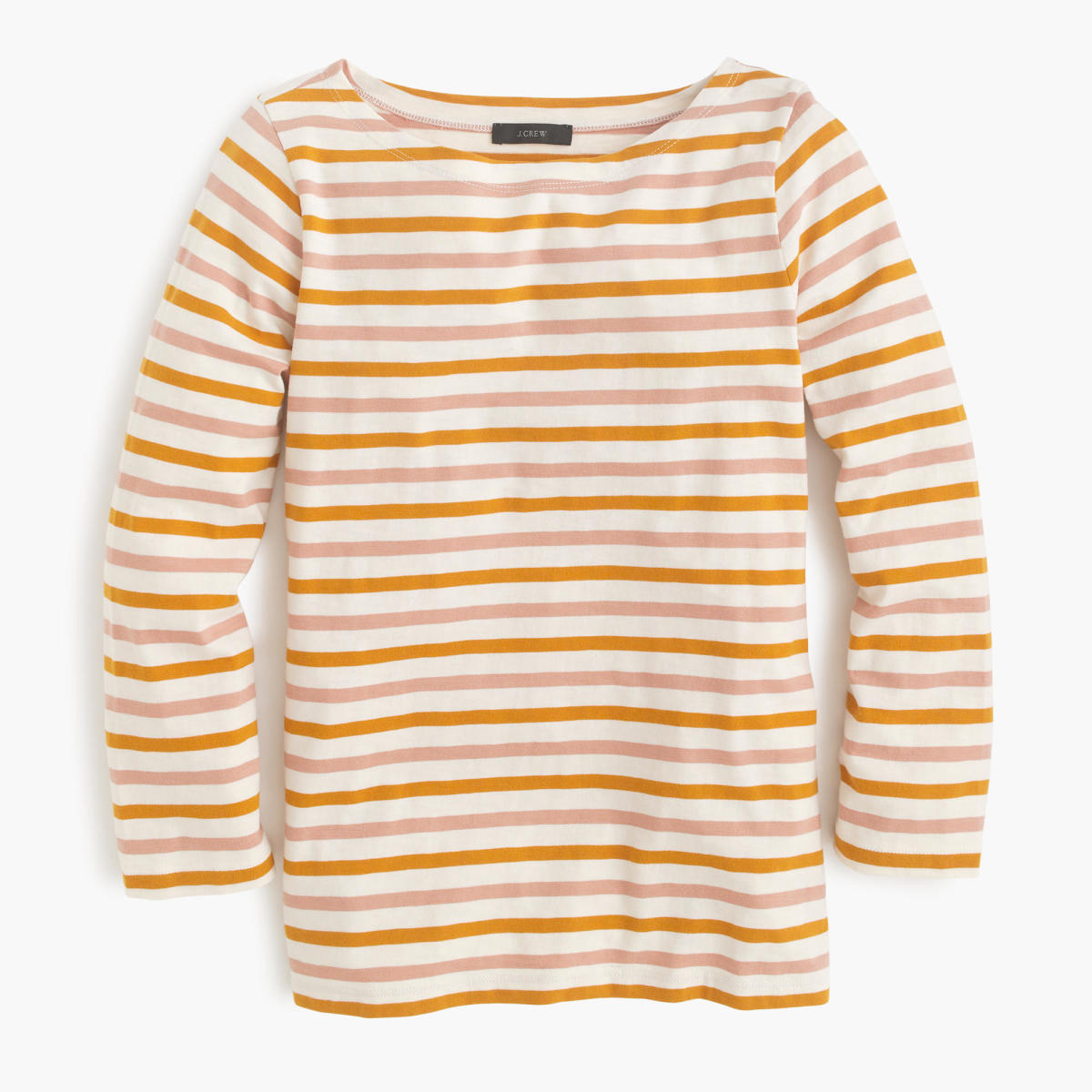 Reminds you of summer popsicles, doesn't it? J.Crew boatneck T-shirt in multicolor stripe, $39.50, available at J.Crew.