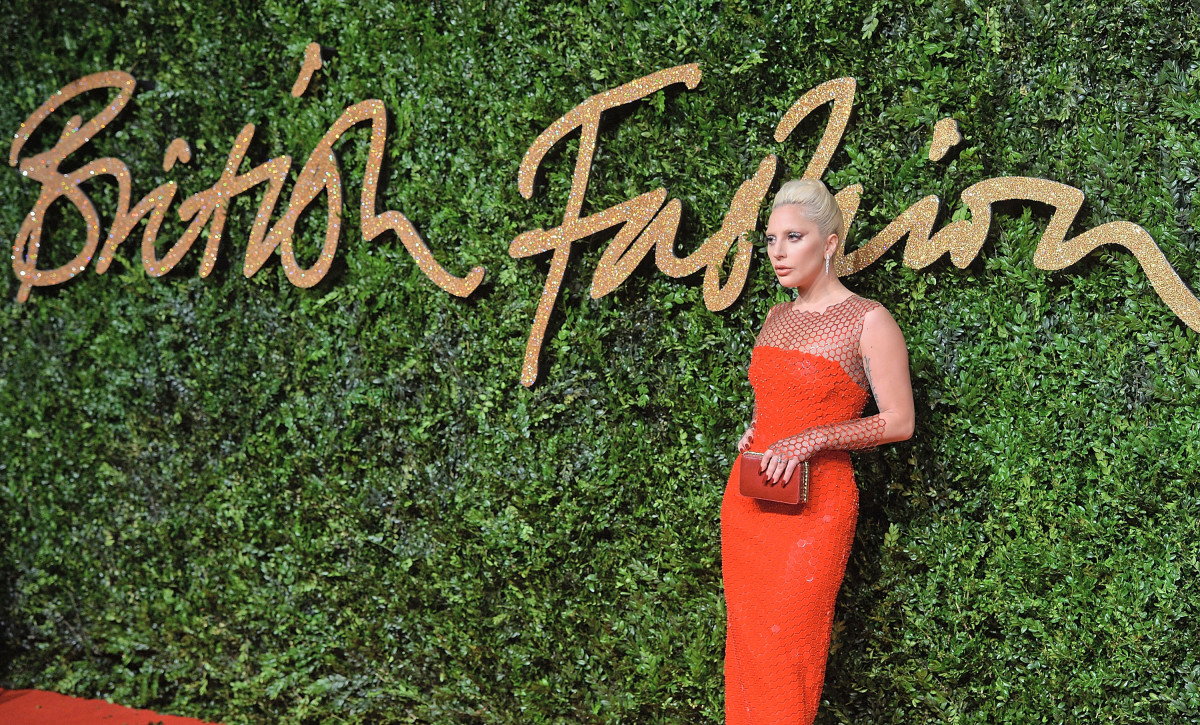 Lady Gaga at the 2015 British Fashion Awards. Photo: Anthony Harvey/Getty Images