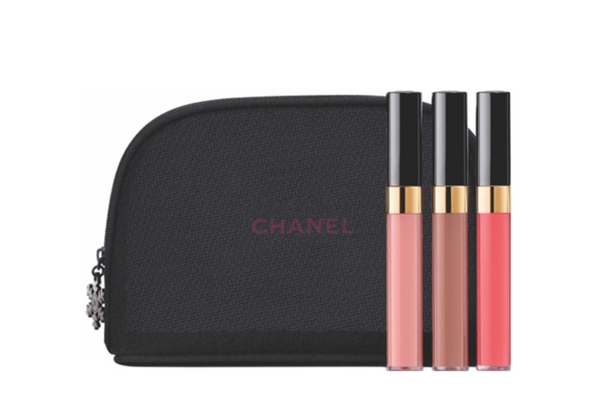 Chanel Turn Up the Shine Glossimer Trio, $92, available at Chanel. Photo: Chanel