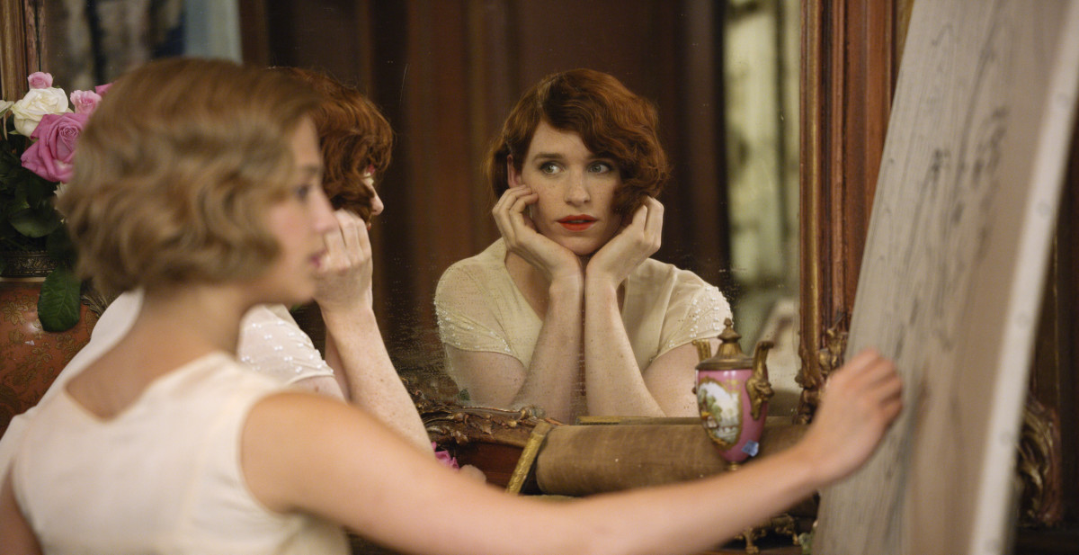 "Alicia Vikander as Gerda Wegener and Eddie Redmayne as Lili Elbe in Tom Hooper's ""The Danish Girl."" Photo: Focus Features."