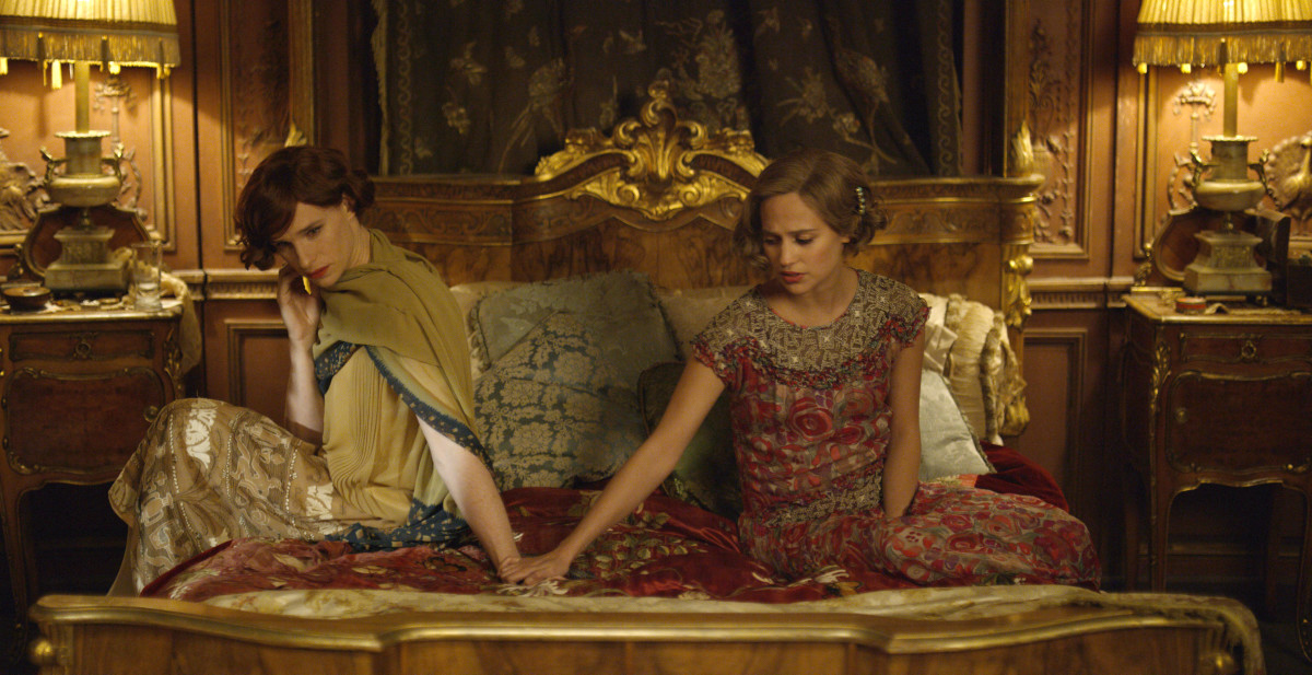 "Eddie Redmayne as Lili Elbe and Alicia Vikander as Gerda Wegener in  					Tom Hooper's ""The Danish Girl."" Photo: Focus Features."