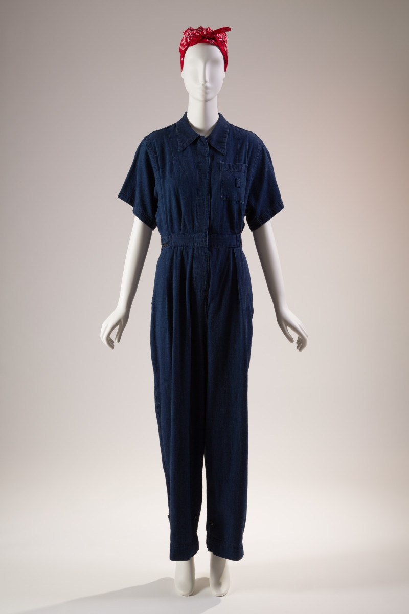 Denim jumpsuit, circa 1942-45. Photo: The Museum at FIT