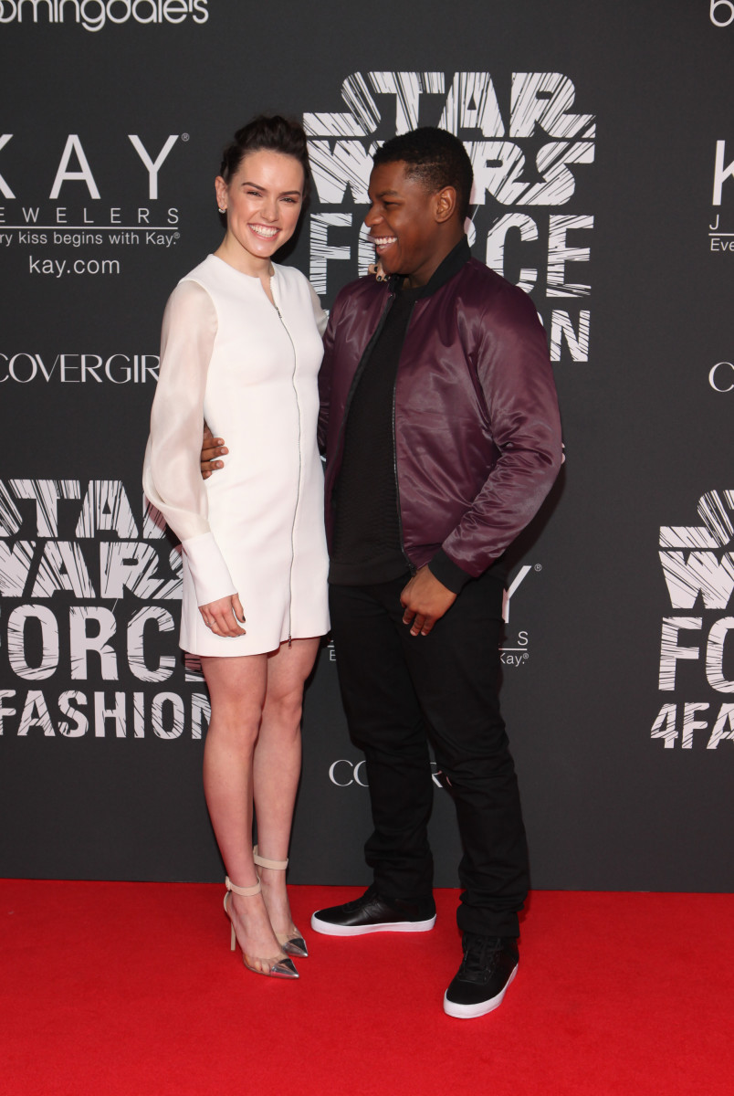 Ridley and her 'Star Wars' co-star John Boyega. Photo: Steve Zak Photography/WireImage