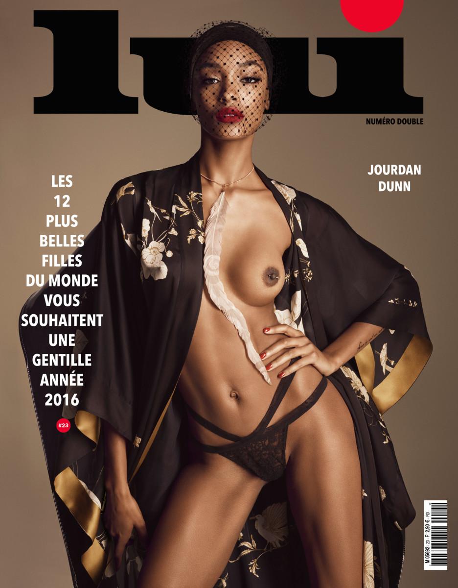 Jourdan Dunn on the cover of 'Lui.' Photo: Lui Magazine