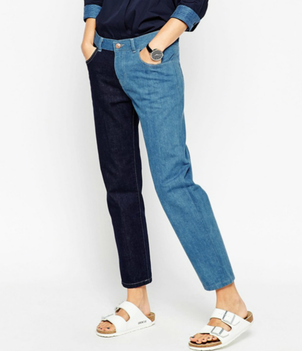 Asos White Double Panel Mom Jeans, $99, available at Asos.