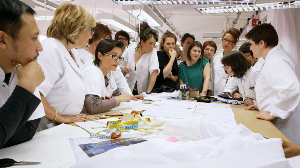 "In a still from the 2014 documentary, ""Dior and I,"" the atelier prepares a collection. Photo: Dior and I"