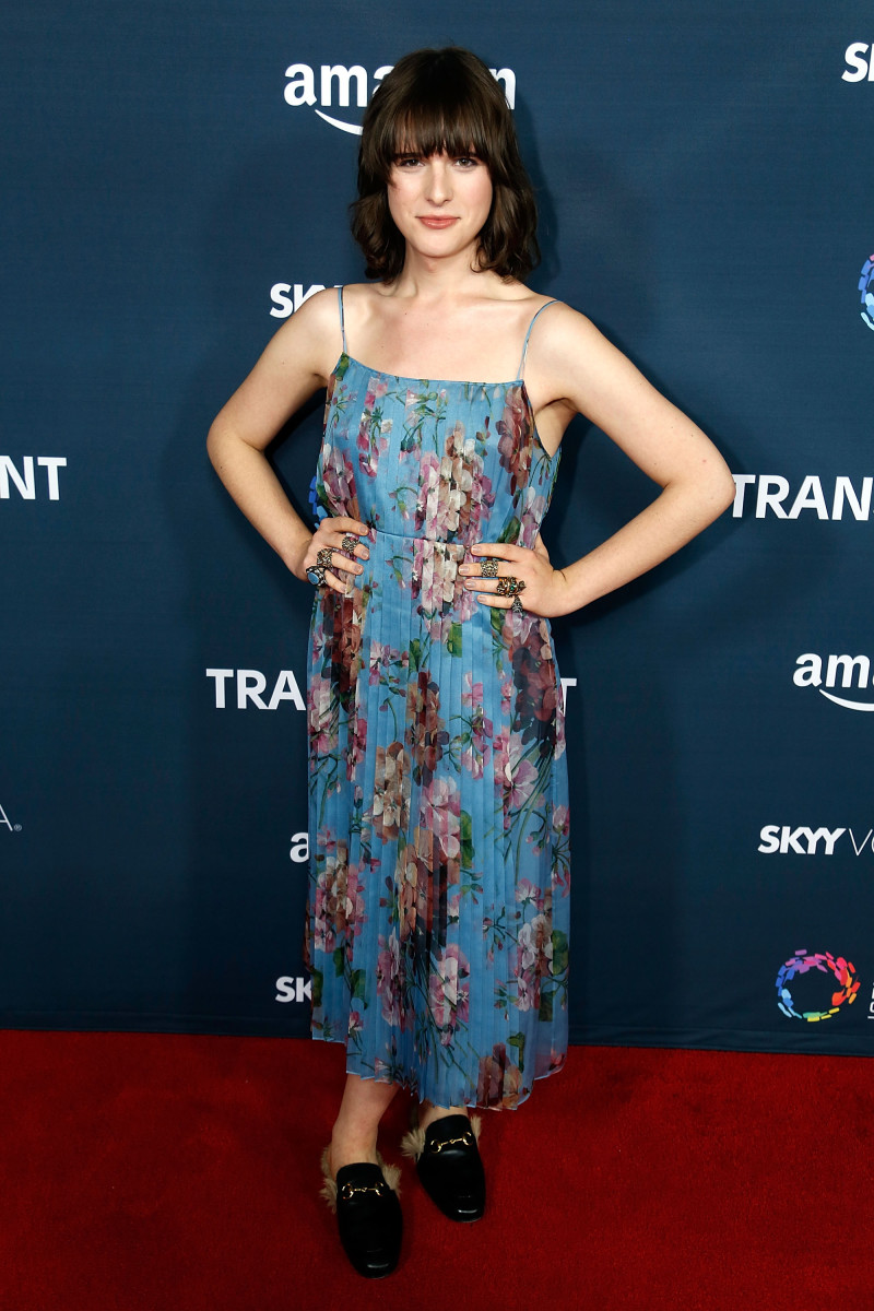 Hari Nef in Gucci at the season two premiere of Amazon's 'Transparent.' Photo: Alberto E. Rodriguez/Getty Images