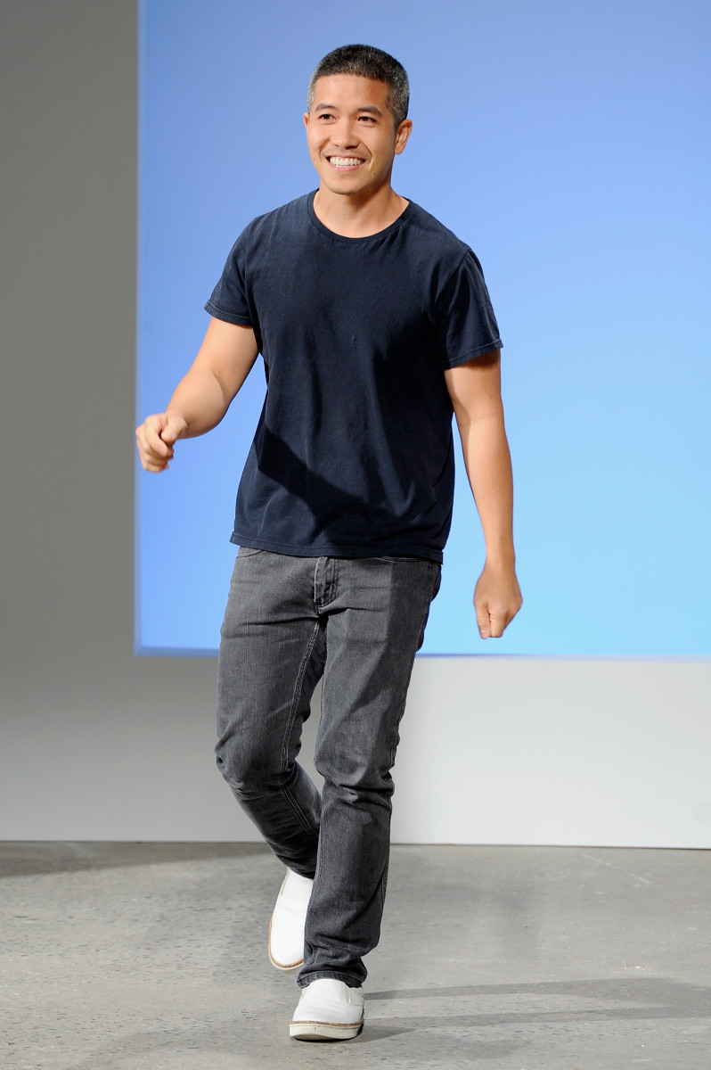 Designer Thakoon Panichgul at his spring 2016 runway show during New York Fashion Week. Photo: Arun Nevader/Getty Images