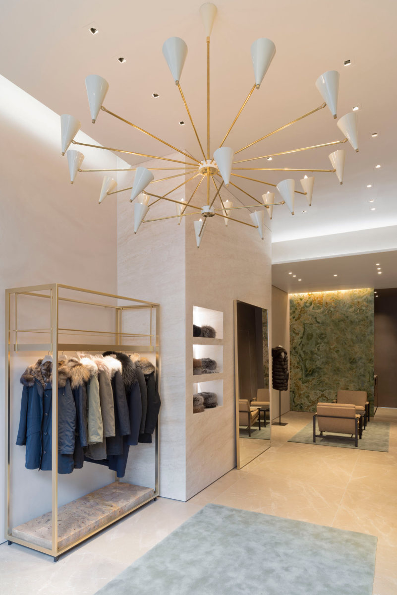 Inside the Yves Salomon store on Madison Avenue in New York City. Photo: Yves Salomon