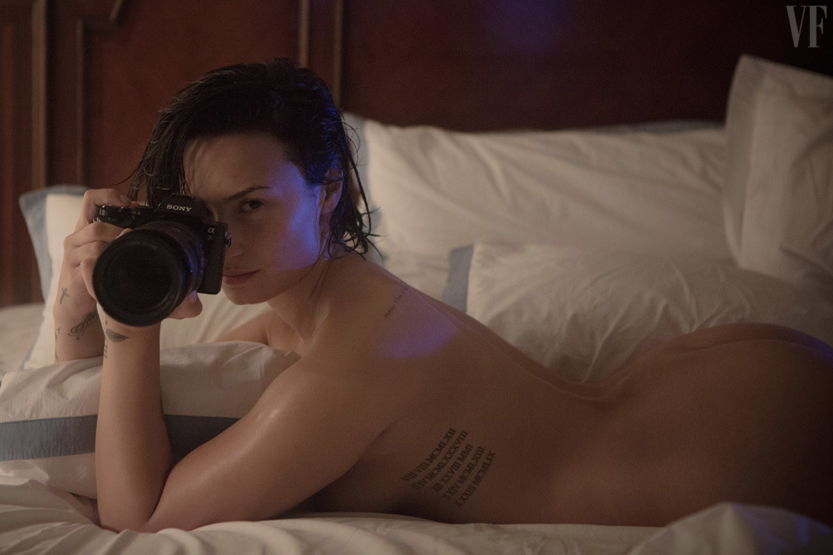 Demi Lovato's revealing photoshoot. Photo: Patrick Ecclesine/Vanity Fair