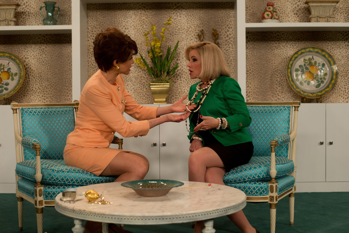 Melissa Rivers as her mother Joan on QVC (right). Photo: Twentieth Century Fox