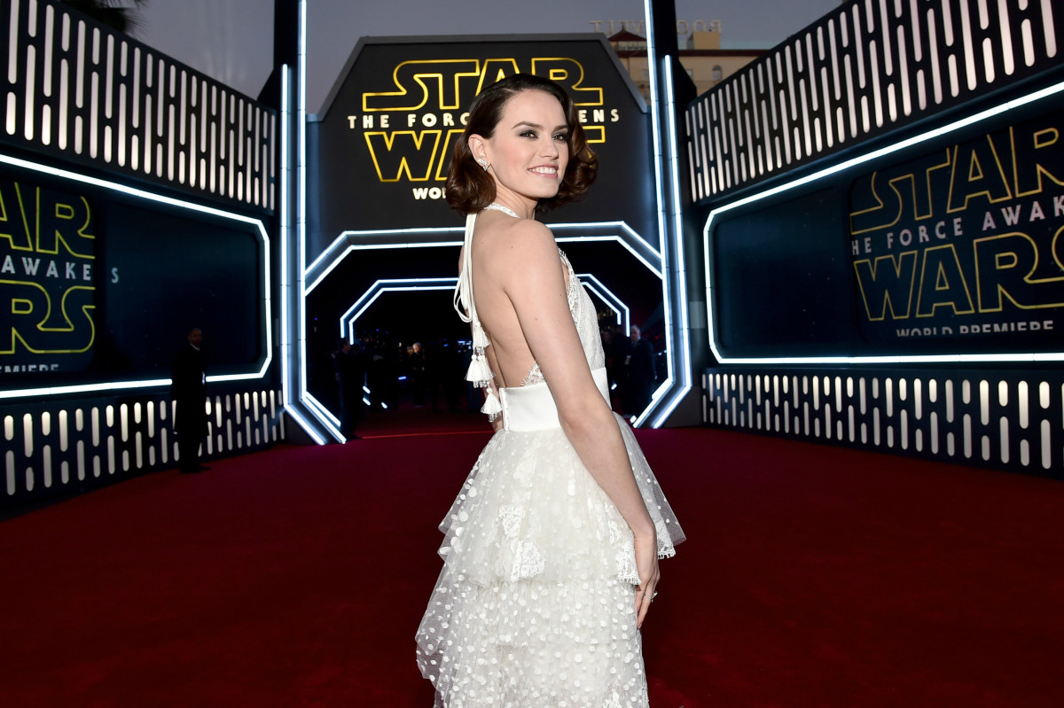 "Daisy Ridley in Chloé at the ""Star Wars: The Force Awakens"" Los Angeles premiere on Monday. Photo: Alberto E. Rodriguez/Getty Images"