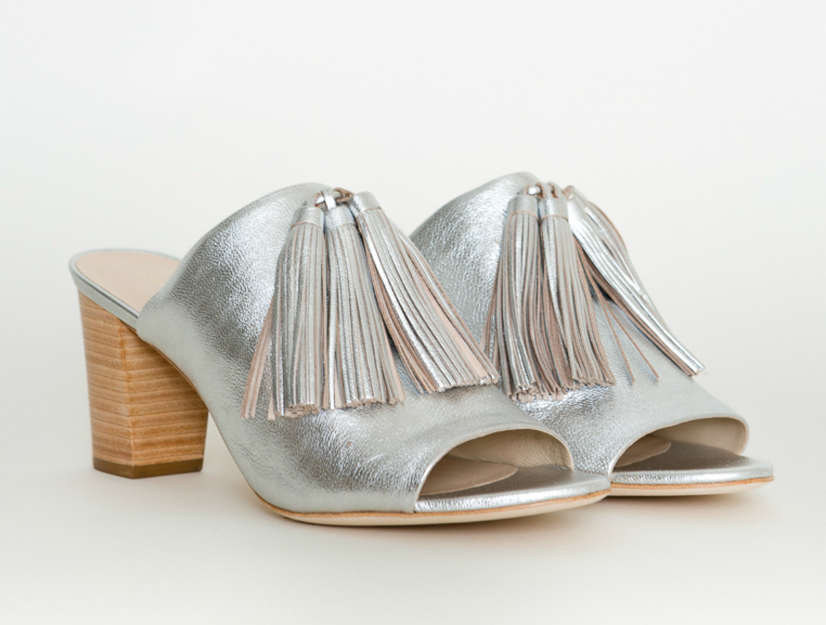 "Loeffler Randall ""Clo"" tassel mule sandals, $395, available at Bird."