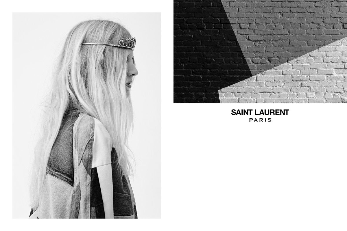 The Saint Laurent spring 2016 campaign. Photo: Hedi Slimane/Saint Laurent