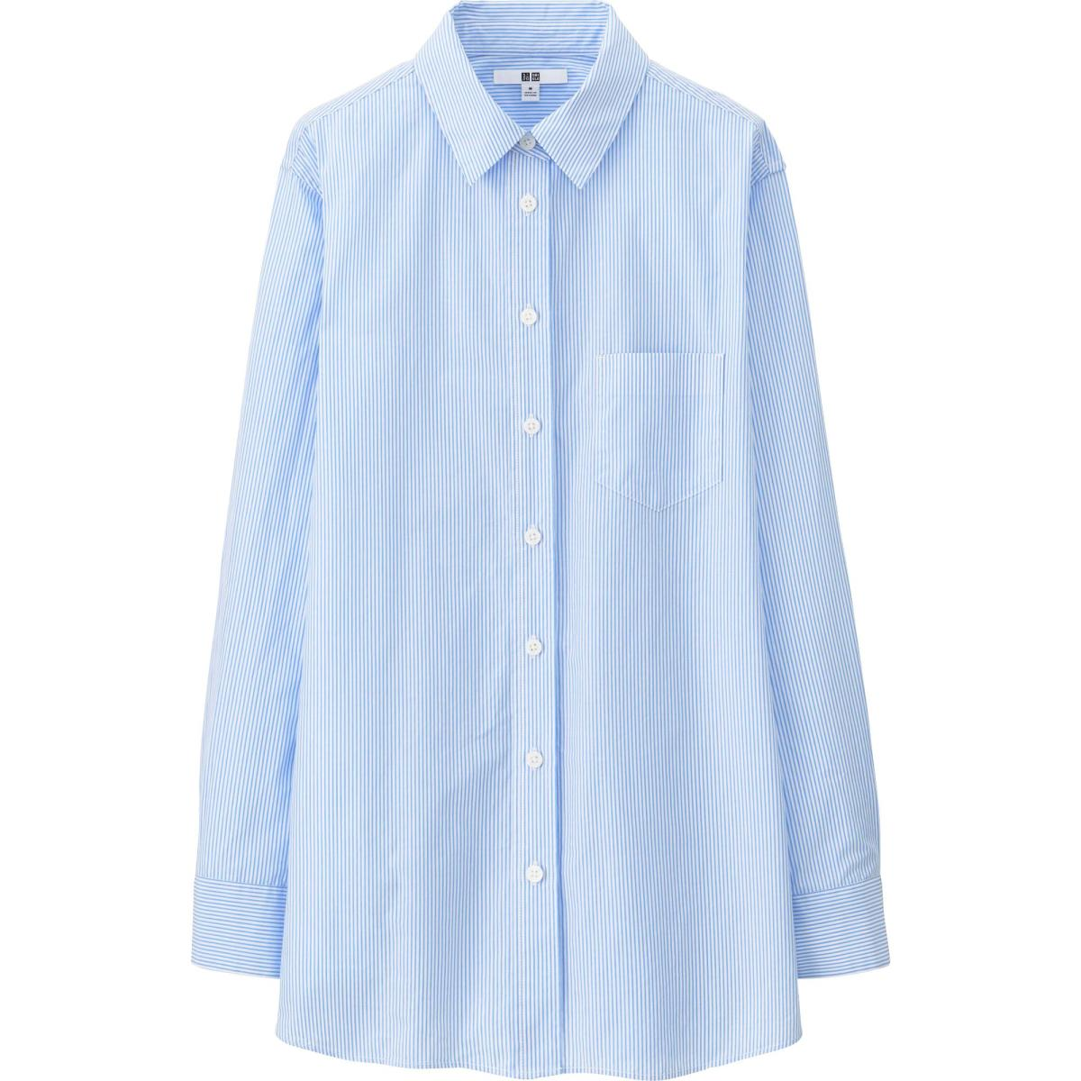 Uniqlo extra fine cotton long sleeve shirt, $29.90, available at Uniqlo.