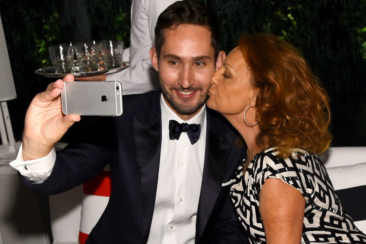 Kevin Systrom and Diane Von Furstenberg at the CFDA Awards. Photo: Larry Busacca/Getty Images