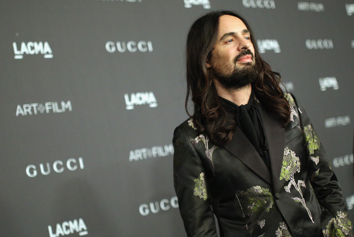 Gucci Creative Director Alessandro Michele at the LACMA 2015 Art+Film Gala in November. Photo: Mike Windle/Getty Images for LACMA