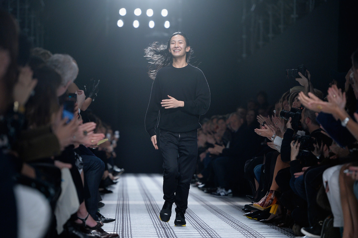 Alexander Wang takes a bow. Photo: Pascal Le Segretain/Getty Images