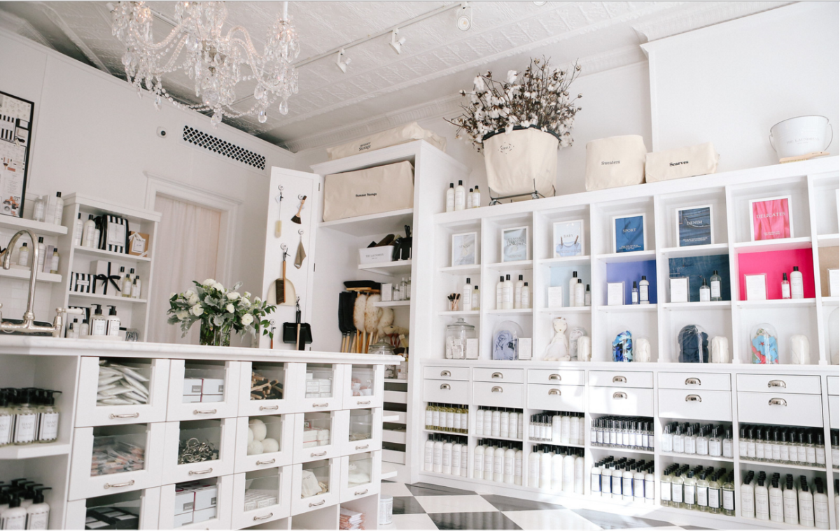 Inside the store. Photo: The Laundress