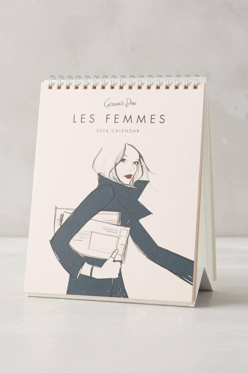 Garance Doré Les Femmes 2016 Desk Calendar, $18, available at Anthropologie. Photo: Anthropologie