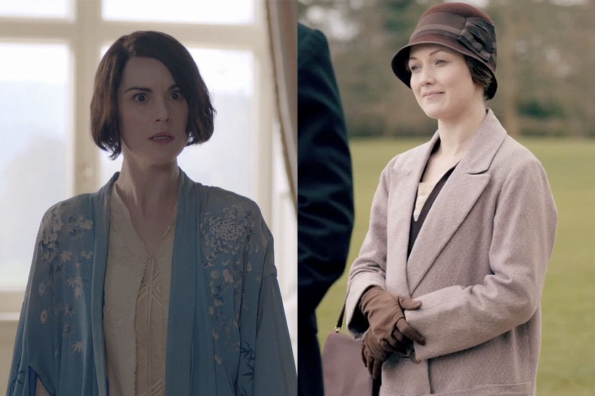 Lady Mary, losing her cool. Lisa, smirking. Screengrabs: PBS/Masterpiece