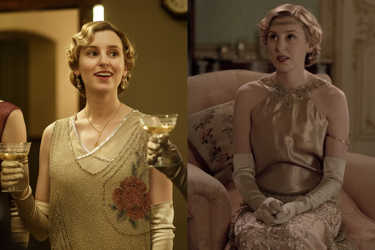 Here, Lady Edith matches her outfit to her drink. Photo: Nick Briggs/Carnival Film & Television Limited 2015 for MASTERPIECE and Screengrab: PBS/Masterpiece