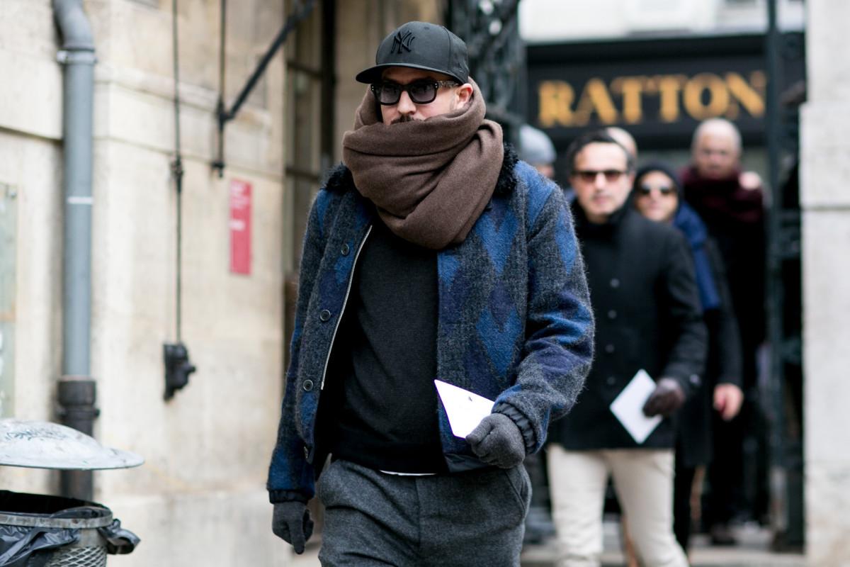 Man on the street wearing menswear. Photo: Imaxtree
