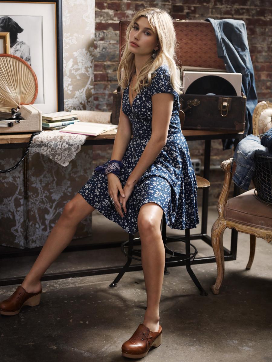 Hailey Baldwin for Denim & Supply Ralph Lauren. Photo: Denim & Supply Ralph Lauren