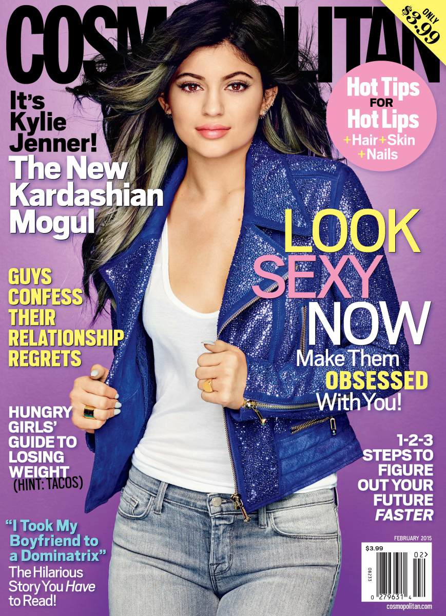 Kylie Jenner's solo Cosmopolitan cover in February sold better than the group in November. Photo: Cosmopolitan