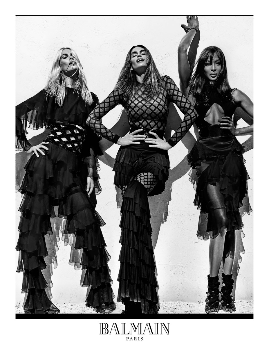All hail the queens. Photo: Steven Klein/Balmain