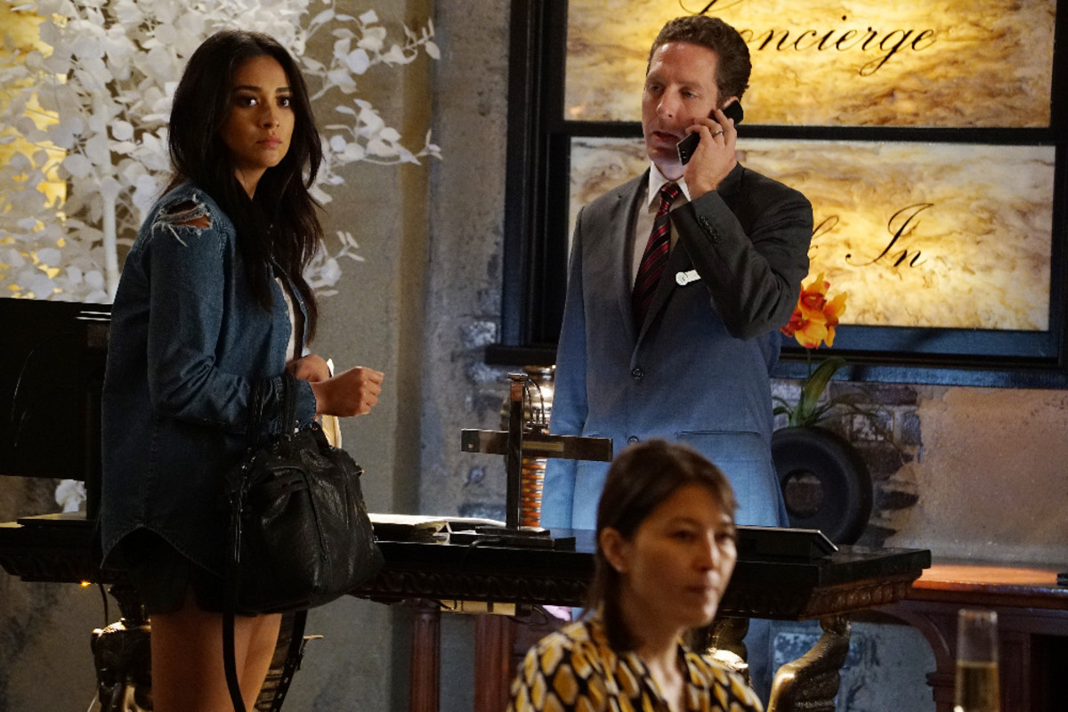 Those aren't denim shorts. Emily in the second episode of the midseason. Photo: ABC Family/Ron Tom