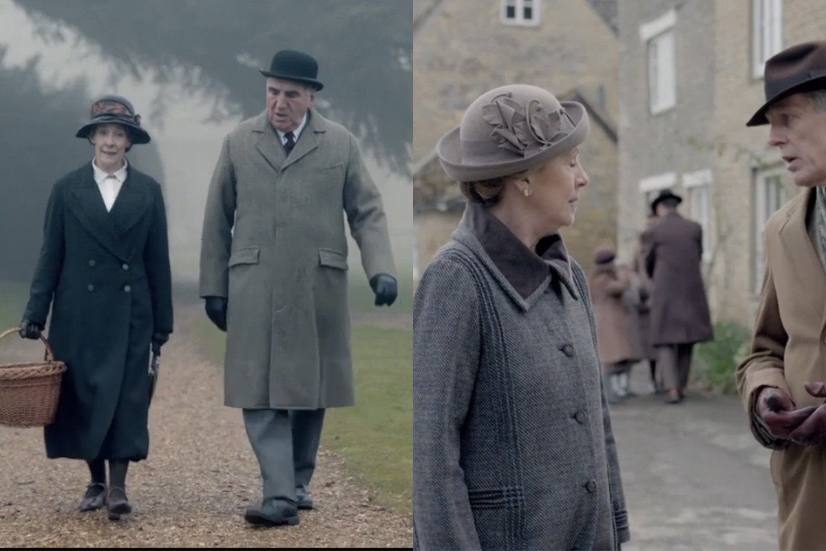 The older generation can really wear a coat. Screengrabs: PBS/Masterpiece