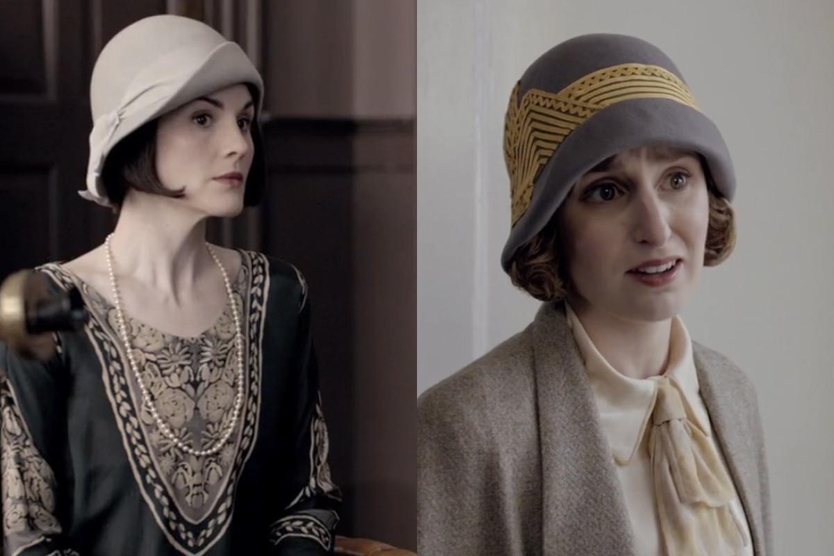 b6a1bf23339e5c Lady Mary and Lady Edith Go Hat-to-Hat on 'Downton Abbey' - Fashionista