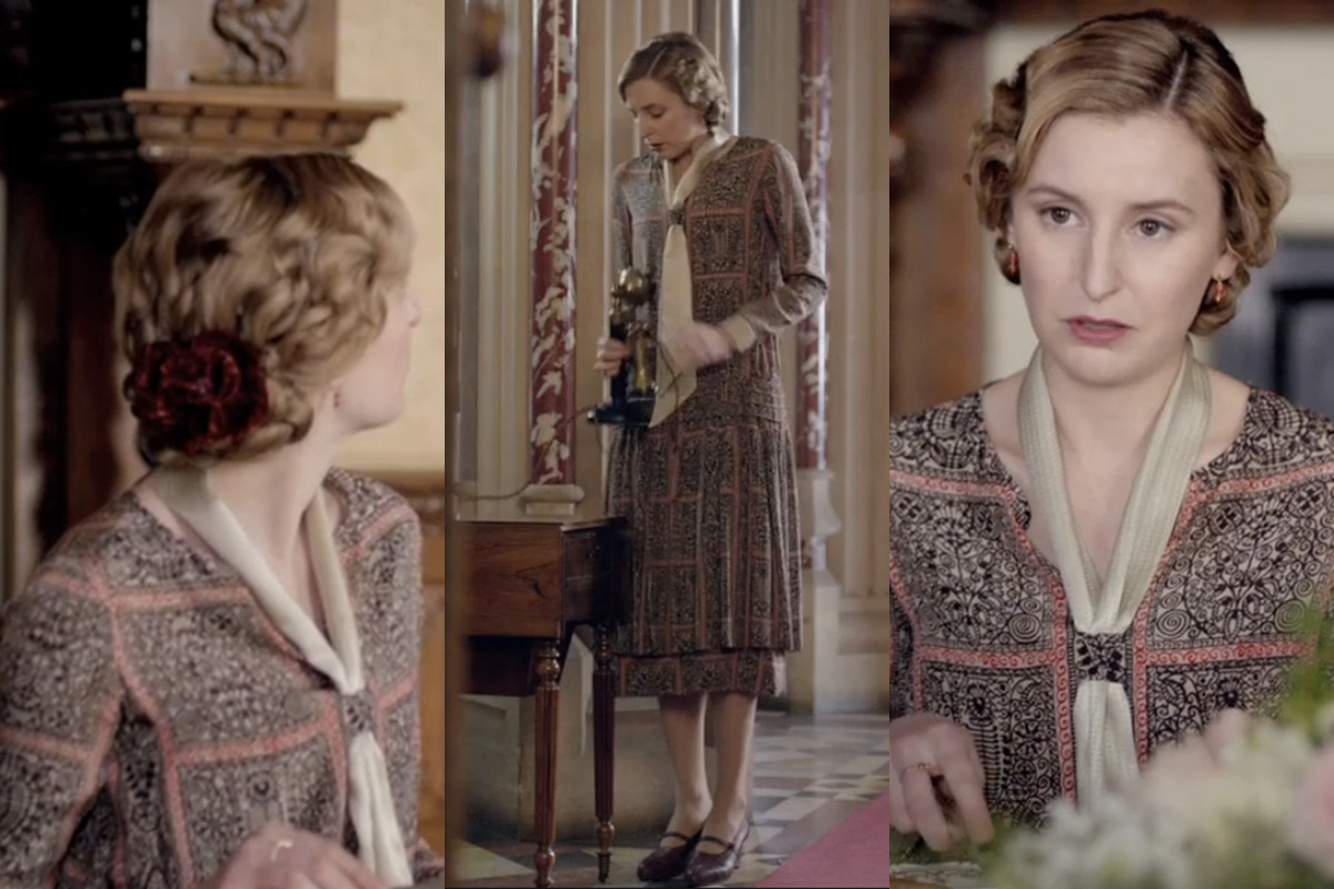 With Rose gone, Edith is becoming Downton's resident clotheshorse. Screengrabs: PBS/Masterpiece