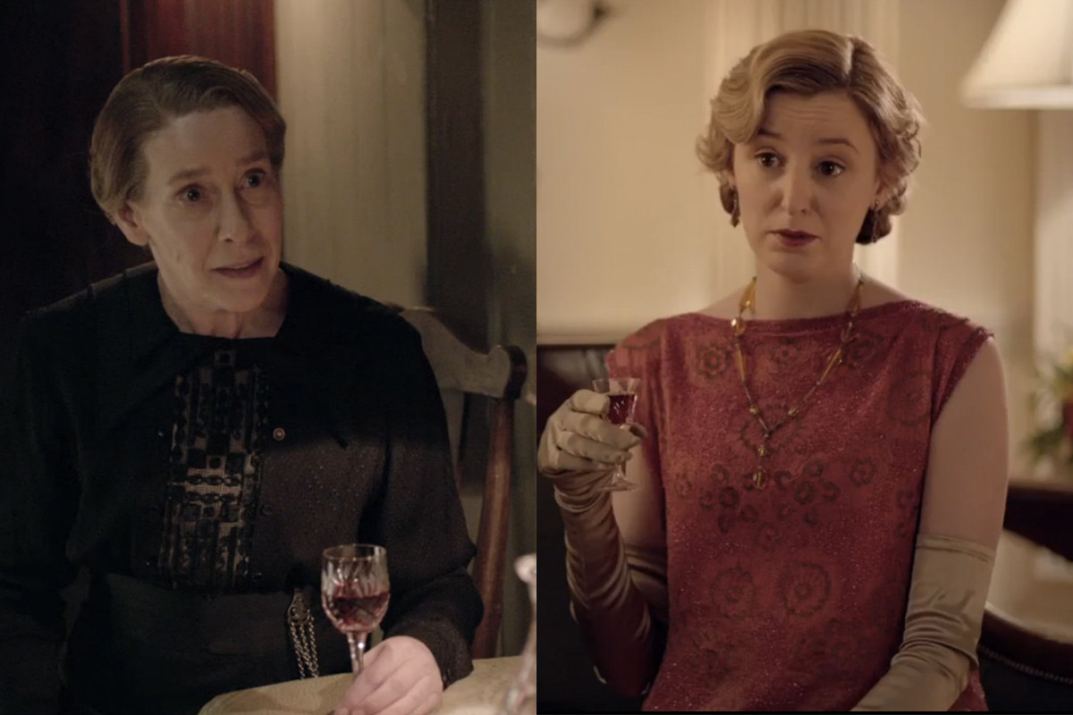 Red wine is so chic. Screengrabs: PBS/Masterpiece