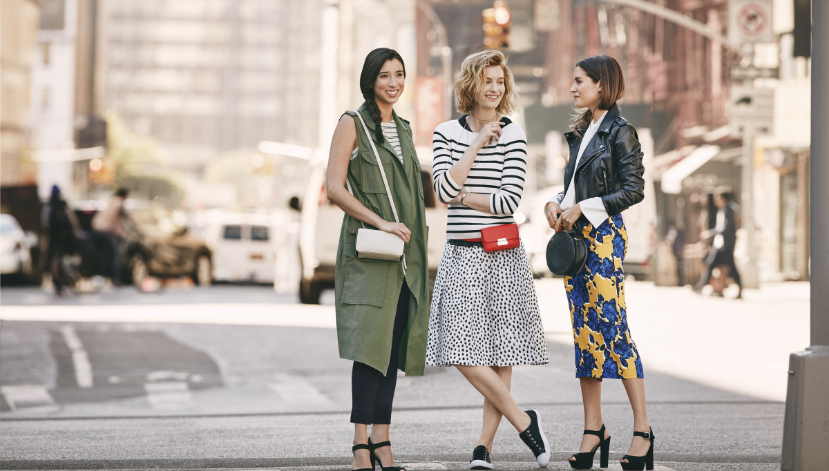 Lily Kwong, Zanita Whittington and Gala Gonzalez model Target's 'Who What Wear' apparel and accessories collection. Photo: Justin Coit/Target