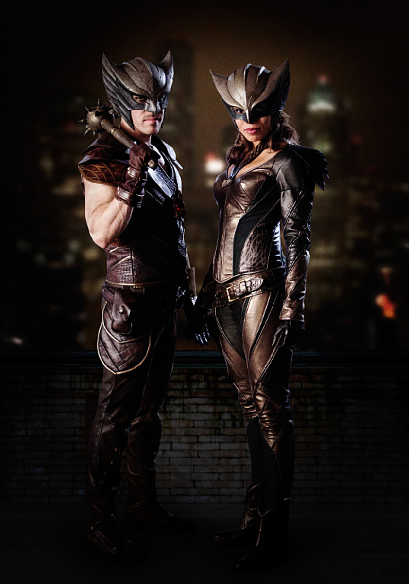Hawkman and Hawkgirl get matchy-matchy. Photo: Michael Courtney/The CW