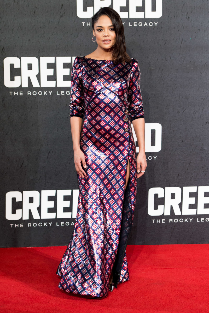 Tessa Thompson in Marc Jacobs. Photo: Ian Gavan/Getty Images