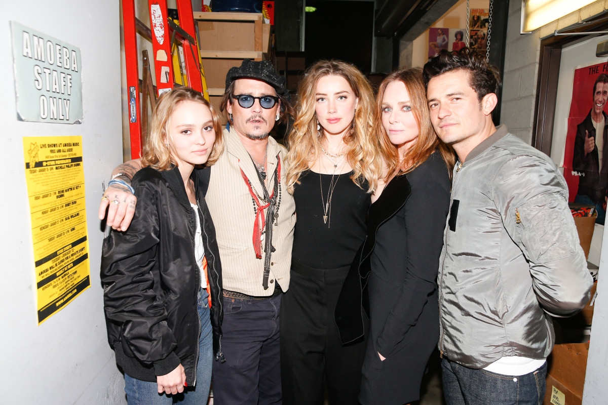 Lily-Rose Depp, Johnny Depp, Amber Heard, Stella McCartney, Orlando Bloom. Photo: Stella McCartney