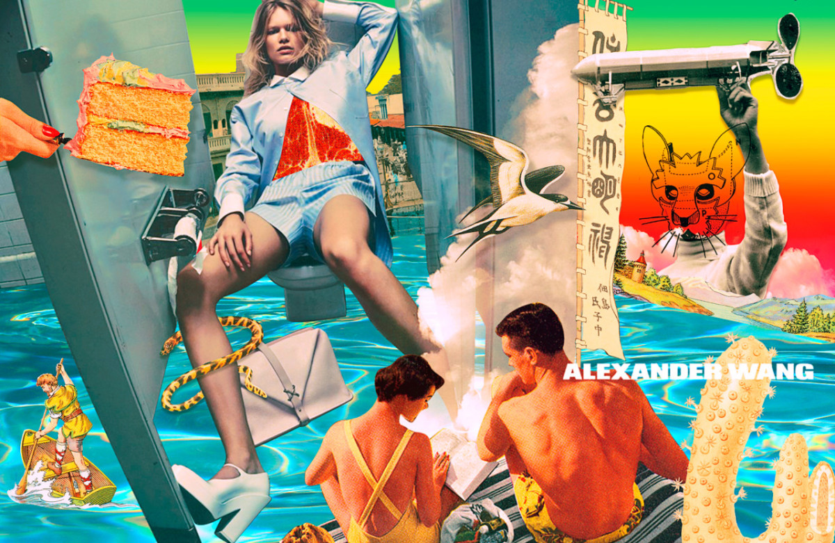 Digital collage inspired by Alexander Wang's spring 2014 campaign. Photo: Pedro Nekoi