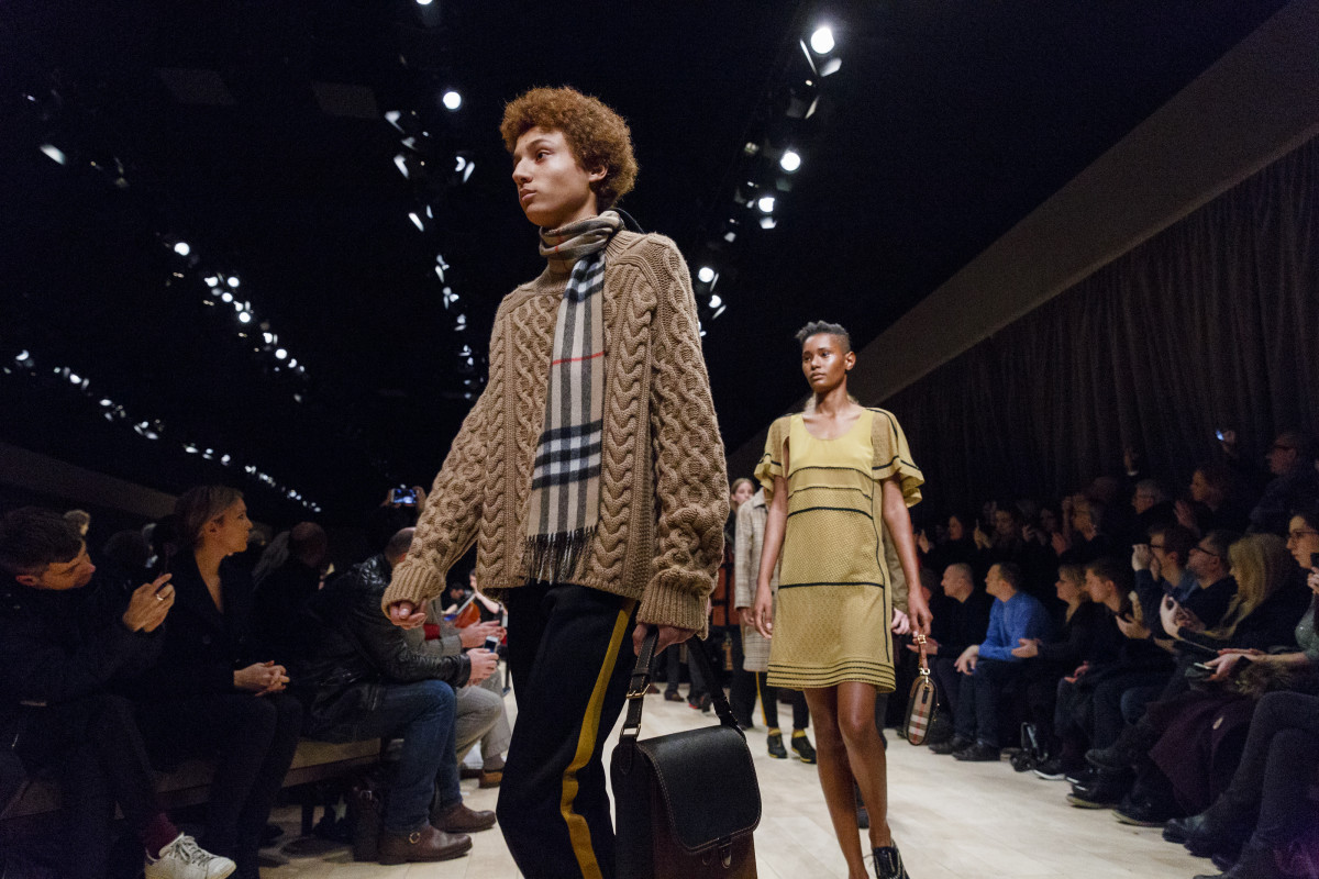 Burberry's runway show at London Collections: Men in January. Photo: Tristan Fewings/Getty Images