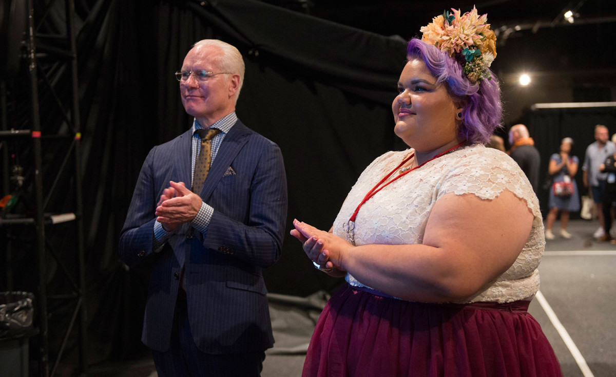 "The exhibit features clips from ""Project Runway"" season 14, which was won by plus-size fashion designer Ashley Nell Tipton. Photo: Lifetime"