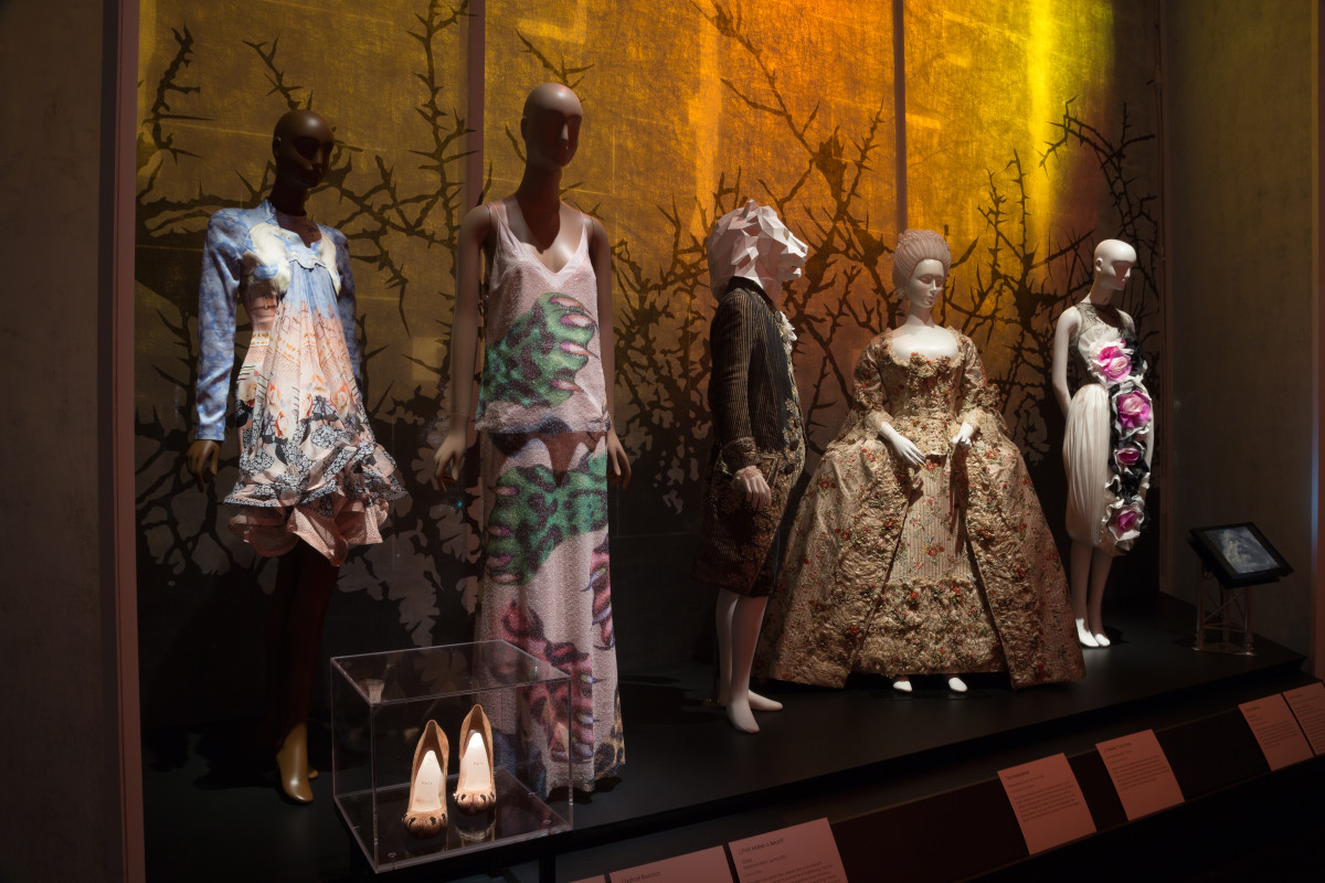 "The ""Beauty and the Beast"" gallery inside ""Fairy Tale Fashion."" Photo: The Museum at FIT"