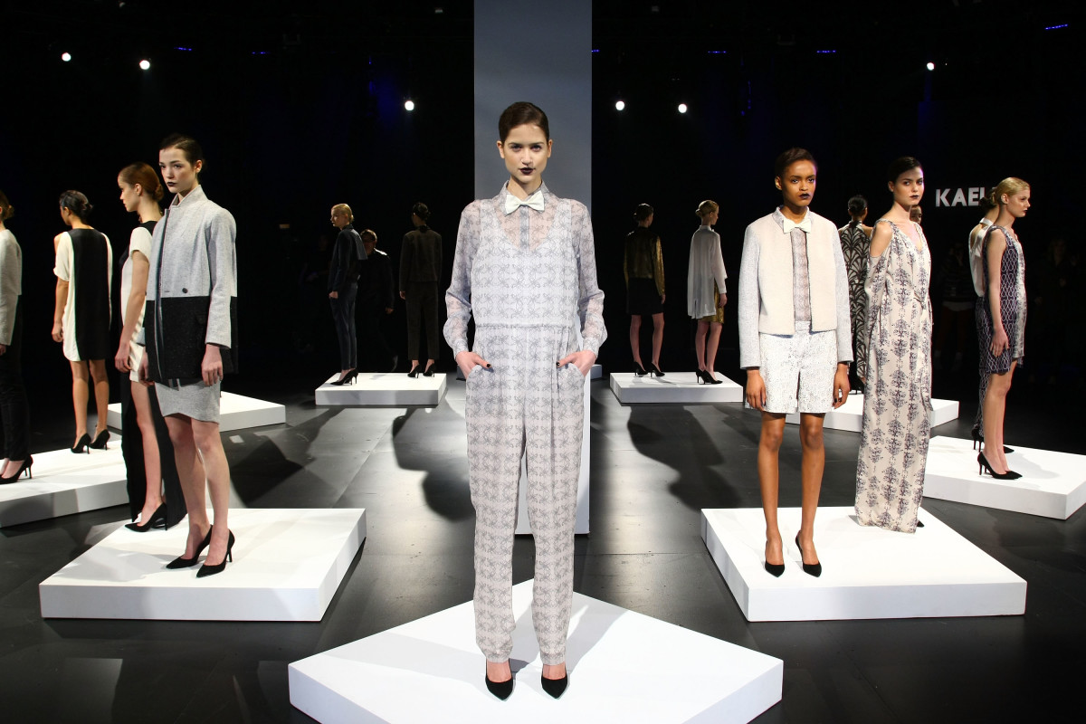 Looks from the Kaelen fall 2012 presentation. Photo: Neilson Barnard/Getty Images for Mercedes-Benz Fashion Week