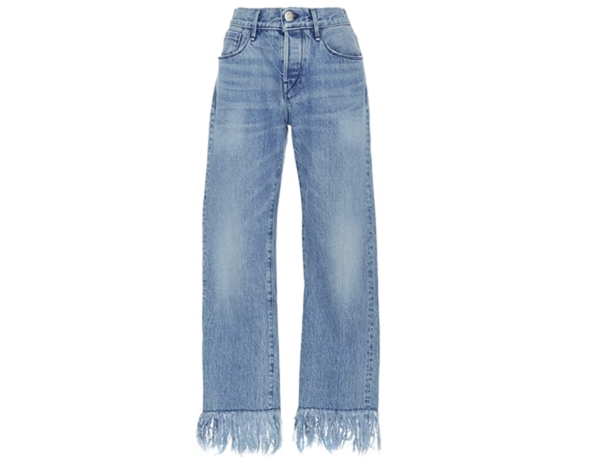 3x1 WM3 Straight Cropped Fringed Jeans, $295, available for preorder at Moda Operandi.