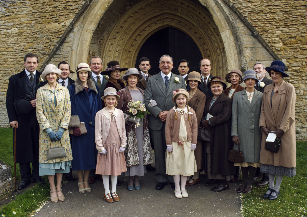 A lovely wedding portrait. But who the heck are those kids? Photo: Nick Briggs/Carnival Film & Television Limited 2015 for MASTERPIECE