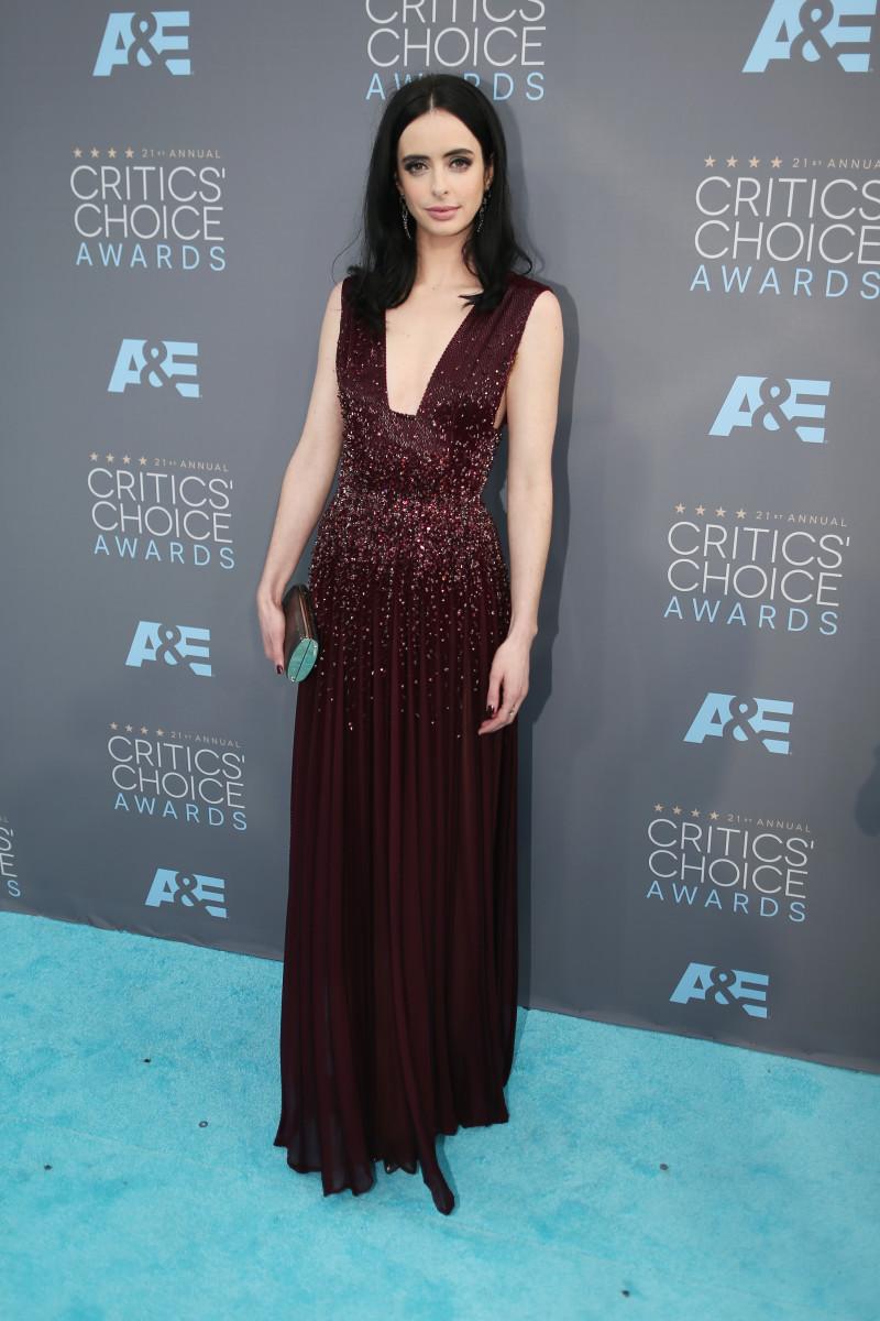 """Jessica Jones"" star Krysten Ritter in Zuhair Murad Couture. Photo: Jason Merritt/Getty Images"